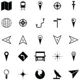 Map icon set. The map of icon set Stock Photography