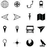 Map icon set. The map of icon set vector illustration