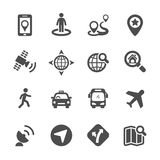 Map icon set 3, vector eps10 Stock Image