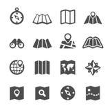 Map icon set, vector eps10 Stock Photo