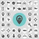 Map icon sets. Stock Image