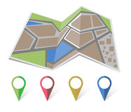 Map icon vector Stock Images