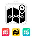 Map icon. Royalty Free Stock Images