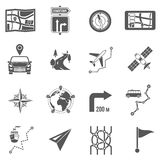 Map Icons Black Royalty Free Stock Photography