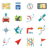 Map Icons Flat Royalty Free Stock Images