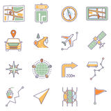 Map Icons Line Stock Image