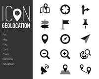 Map Icons and Location Icons with White Background Royalty Free Stock Image
