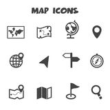 Map icons stock illustration