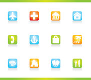 Map icons set. Royalty Free Stock Photos
