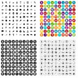 100 map icons set variant. 100 map icons set in 4 variant for any web design isolated on white royalty free illustration