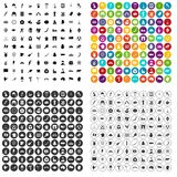 100 map icons set vector variant. 100 map icons set vector in 4 variant for any web design isolated on white Royalty Free Stock Photo