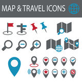 Map Icons Royalty Free Stock Images