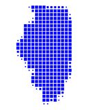 Map of Illinois Stock Image