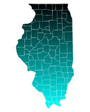 Map of Illinois. Detailed and accurate illustration of map of Illinois royalty free illustration