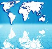 Map  illustration Royalty Free Stock Image