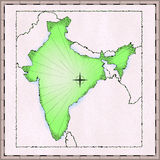 Map of India Royalty Free Stock Photography