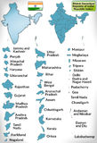 Map of India Stock Image