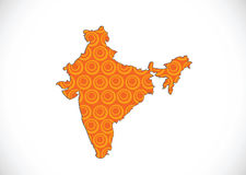 Map of India idea design Royalty Free Stock Photos