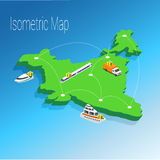 Map India isometric concept. Stock Photo