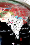 Map of Indian subcontinent. Ceramic indian subcontinent map Royalty Free Stock Photo