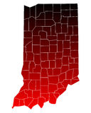 Map of Indiana Stock Images