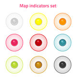 Map indicators set Royalty Free Stock Images
