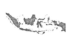 Map of Indonesia on poppy seeds vector illustration