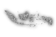 Map of Indonesia on poppy seeds royalty free stock image