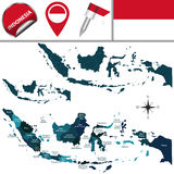 Map of Indonesia Royalty Free Stock Image