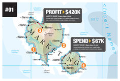 Map Infographic Marketing Royalty Free Stock Photography