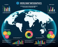 Map infographics. 3d world maps graphic design templates vector illustration. Infograph and chart for globe business Stock Photos