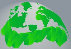 Map and internet royalty free stock images