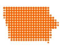 Map of Iowa Stock Photos
