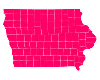 Map of Iowa Royalty Free Stock Photos