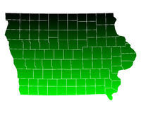 Map of Iowa. Detailed and accurate illustration of map of Iowa Royalty Free Stock Image