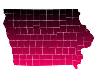 Map of Iowa. Detailed and accurate illustration of map of Iowa Stock Photos