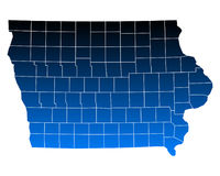 Map of Iowa. Detailed and accurate illustration of map of Iowa Stock Photography