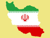Map of Iran Royalty Free Stock Images