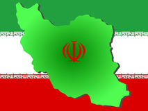Map of Iran Royalty Free Stock Photography