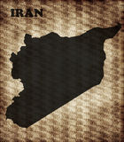 Map of Iran Stock Photography