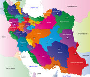 Map of Iran Stock Photos