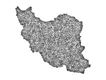 Map of Iran on poppy seeds Royalty Free Stock Images