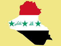Map of Iraq Stock Photos