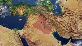 Map of Iraq and borders stock video