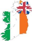 Map of the Ireland. Royalty Free Stock Photos