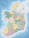 Map of Ireland Royalty Free Stock Images