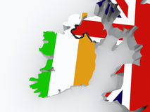 Map of Ireland and Britain. Royalty Free Stock Photos