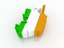 Map of Ireland. Royalty Free Stock Image