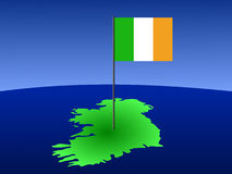 Map of ireland with flag Royalty Free Stock Images