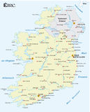 Map of the Irish republic in Irish Gaelic language Stock Photography